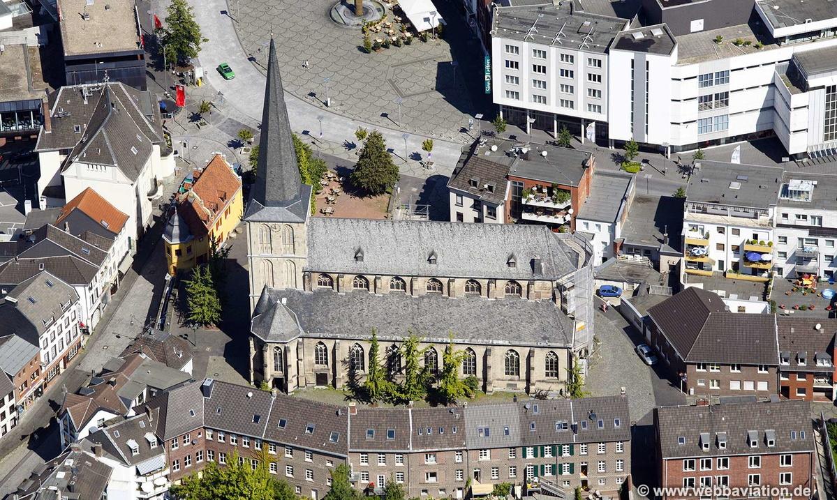 citykirche alter markt m nchengladbach luftbild luftbilder von deutschland von jonathan c k webb. Black Bedroom Furniture Sets. Home Design Ideas
