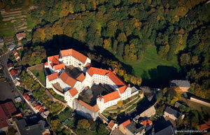 Colditz Castle / Schloss Colditz aerial photo /  Luftbild